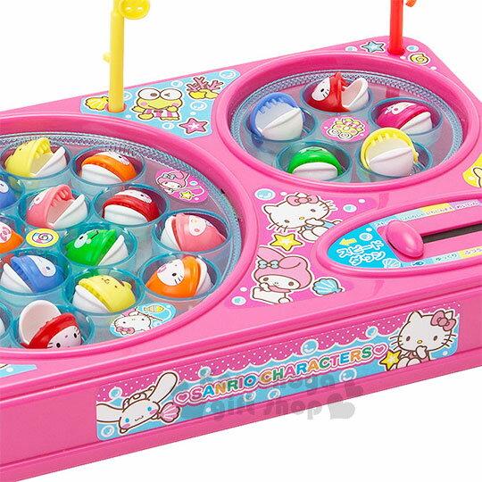 〔小禮堂〕Sanrio大集合 釣魚玩具機《粉.雙魚池》盒裝.多人玩具 5