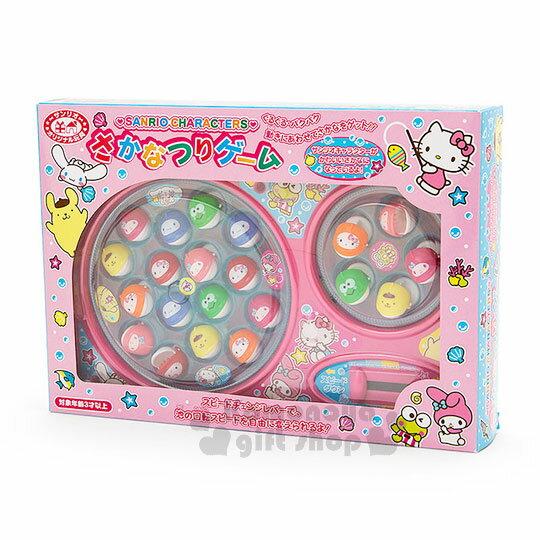 〔小禮堂〕Sanrio大集合 釣魚玩具機《粉.雙魚池》盒裝.多人玩具 6