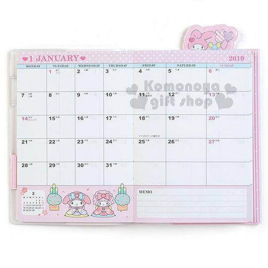 〔小禮堂〕美樂蒂 2019 造型頁籤封套年曆手帳本《粉》日誌.行事曆.記事本 2