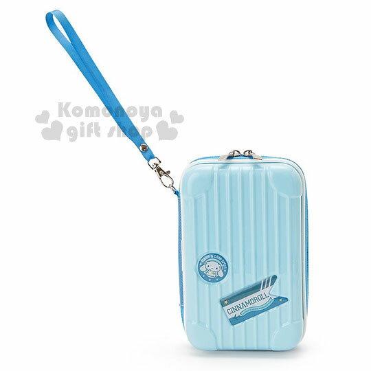 〔小禮堂〕大耳狗 行李箱造型硬殼化妝包《藍》附腕繩.收納包.萬用包 0