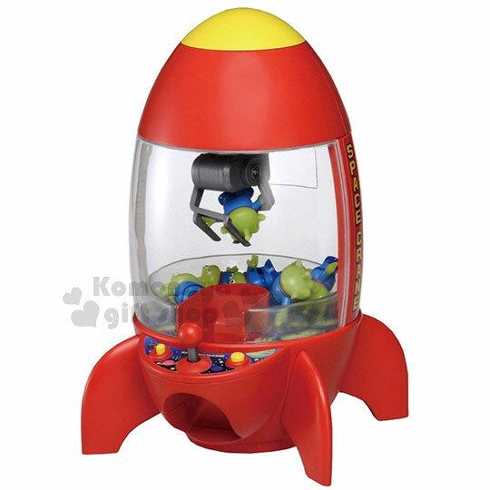 〔小禮堂〕迪士尼三眼怪迷你夾娃娃機玩具《紅.火箭.盒裝》夾物機.公仔機