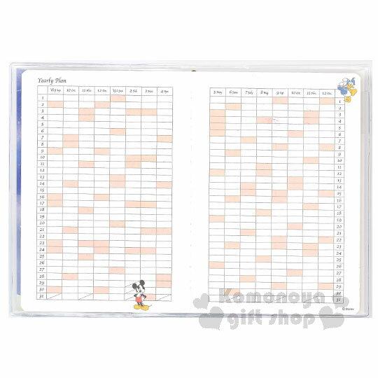 〔小禮堂〕迪士尼 米奇米妮 2019 日製年曆手帳本《B6.深藍.背影.搭肩》行事曆.記事本 2