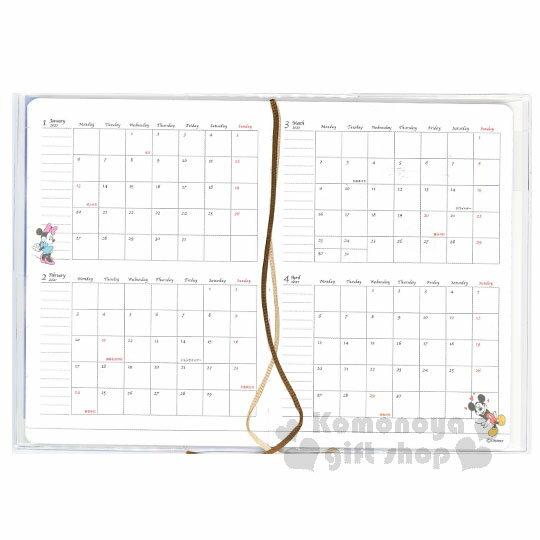 〔小禮堂〕迪士尼 米奇米妮 2019 日製年曆手帳本《B6.深藍.背影.搭肩》行事曆.記事本 4