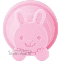 〔小禮堂〕MARNA 可折疊造型矽膠杯《粉.兔子》95ml.伸縮杯.漱口杯.水杯