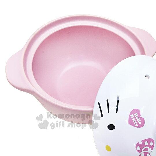 〔小禮堂〕Hello Kitty 高耐熱陶瓷鍋《粉.大臉》1500ml.砂鍋.湯鍋 1