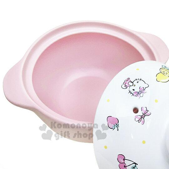 〔小禮堂〕Hello Kitty 高耐熱陶瓷鍋《粉.水果》1500ml.砂鍋.湯鍋 1