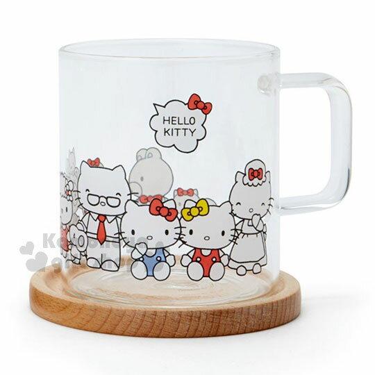 〔小禮堂〕Hello Kitty 玻璃馬克杯組《2入.透明》精緻盒裝.歡樂一家親系列 1