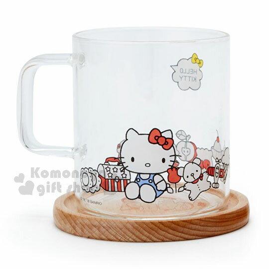 〔小禮堂〕Hello Kitty 玻璃馬克杯組《2入.透明》精緻盒裝.歡樂一家親系列 2