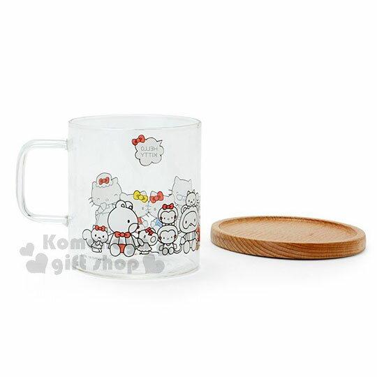 〔小禮堂〕Hello Kitty 玻璃馬克杯組《2入.透明》精緻盒裝.歡樂一家親系列 3