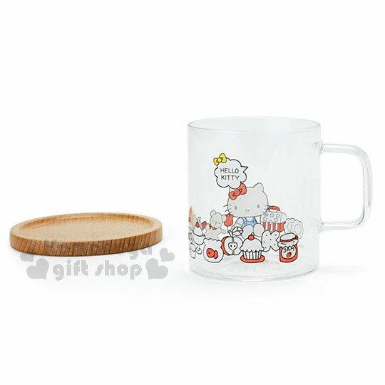 〔小禮堂〕Hello Kitty 玻璃馬克杯組《2入.透明》精緻盒裝.歡樂一家親系列 4