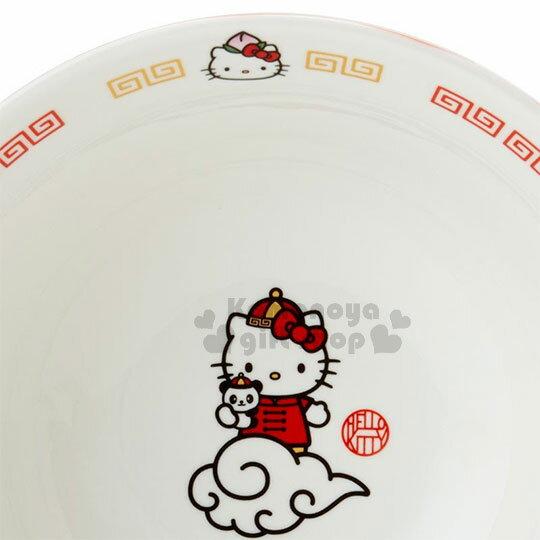 〔小禮堂〕Hello Kitty 陶瓷拉麵碗《白紅》湯碗.碗公.精緻盒裝.中華餐館系列 2