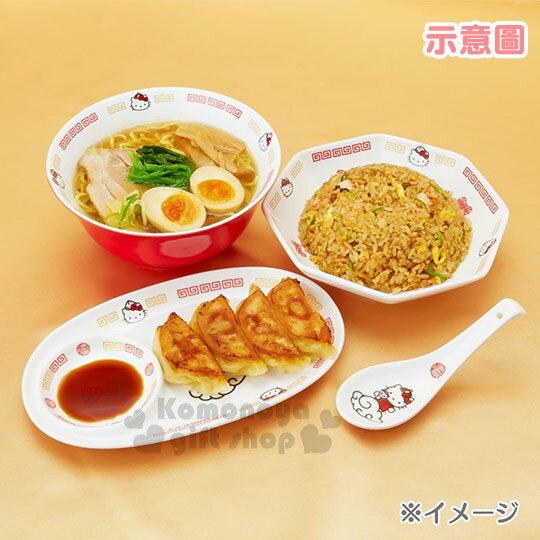 〔小禮堂〕Hello Kitty 八角陶瓷深盤《白紅》沙拉盤.炒飯盤.精緻盒裝.中華餐館系列 3