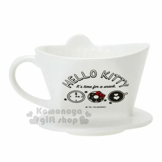 〔小禮堂〕Hello Kitty 造型陶瓷手沖濾杯《白.大臉》咖啡杯.精緻盒裝 1