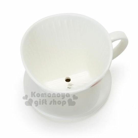 〔小禮堂〕Hello Kitty 造型陶瓷手沖濾杯《白.大臉》咖啡杯.精緻盒裝 2