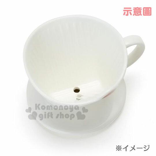 〔小禮堂〕史努比 造型陶瓷手沖濾杯《白.大臉》咖啡杯.精緻盒裝 2