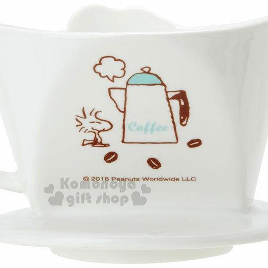 〔小禮堂〕史努比 造型陶瓷手沖濾杯《白.大臉》咖啡杯.精緻盒裝 4