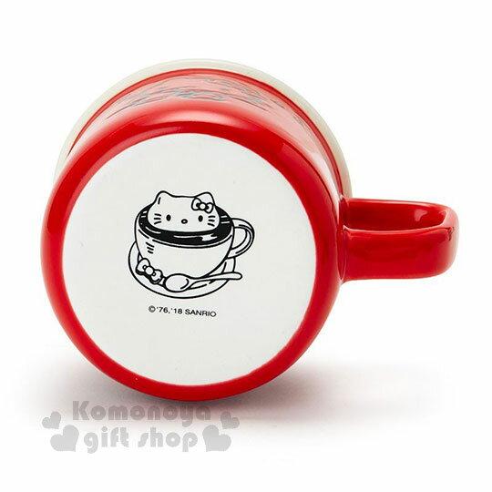〔小禮堂〕Hello Kitty 陶瓷馬克杯《紅.泡咖啡》寬口杯.咖啡杯.精緻盒裝 2