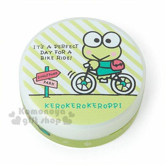 〔小禮堂〕大眼蛙 日製圓盒香氛護手霜《綠.騎車》玫瑰香.護手乳.手部保養 0