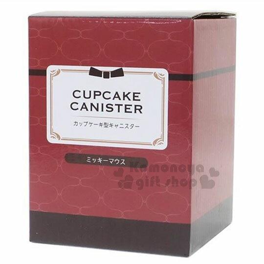 〔小禮堂〕迪士尼 米奇 造型陶瓷收納罐《酒紅.杯子蛋糕》置物罐.糖果罐 3