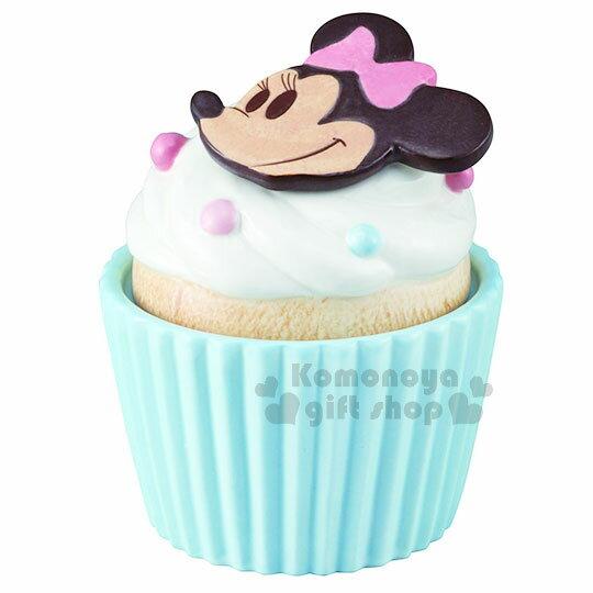 〔小禮堂〕迪士尼 米妮 造型陶瓷收納罐《藍.杯子蛋糕》置物罐.糖果罐 0