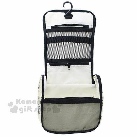 〔小禮堂〕角落生物 方型尼龍旅行收納袋《米.文字.滿版》衣物袋.盥洗袋.收納包 1