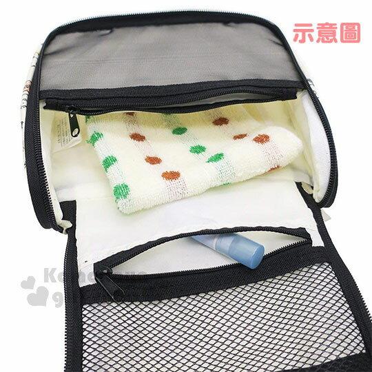 〔小禮堂〕角落生物 方型尼龍旅行收納袋《米.文字.滿版》衣物袋.盥洗袋.收納包 2