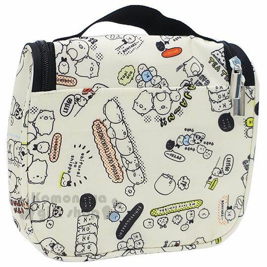〔小禮堂〕角落生物 方型尼龍旅行收納袋《米.文字.滿版》衣物袋.盥洗袋.收納包 3