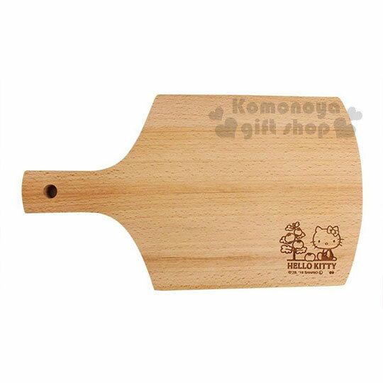 〔小禮堂〕Hello Kitty 木質砧板《棕.側坐.番茄樹》托盤.餐盤 0