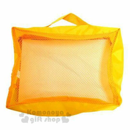 〔小禮堂〕迪士尼 小熊維尼 尼龍旅行衣物收納袋《M.黃.大臉》盥洗袋.收納包 1