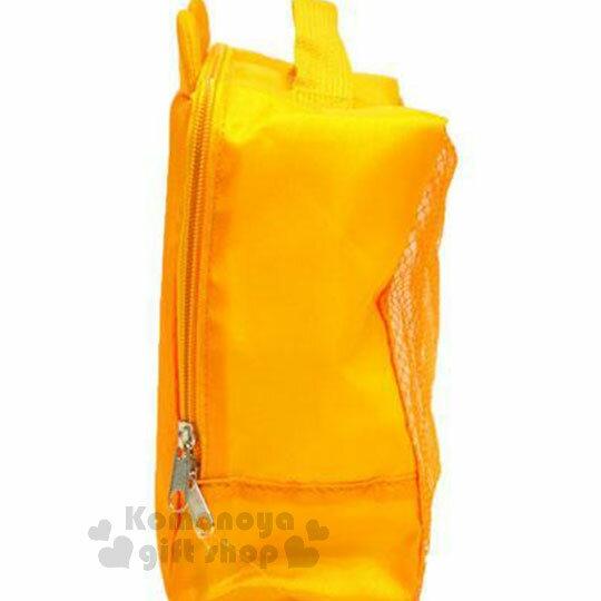 〔小禮堂〕迪士尼 小熊維尼 尼龍旅行衣物收納袋《M.黃.大臉》盥洗袋.收納包 2