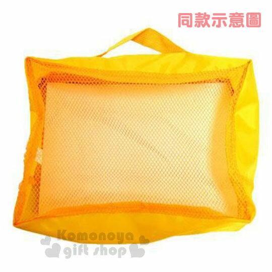 〔小禮堂〕迪士尼 奇奇蒂蒂 尼龍旅行衣物收納袋《M.深棕.大臉》盥洗袋.收納包 2