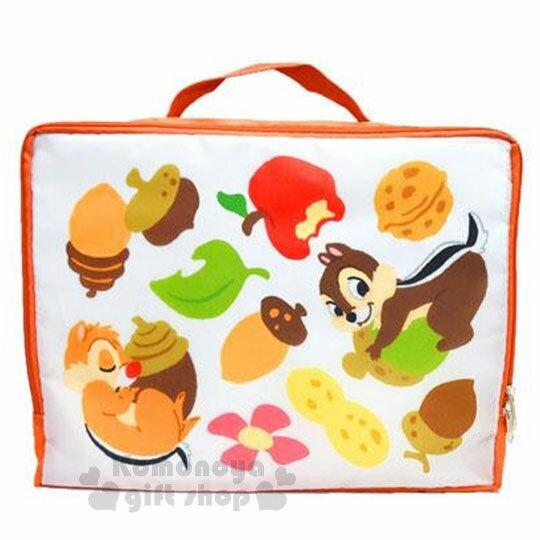 〔小禮堂〕迪士尼 奇奇蒂蒂 尼龍旅行衣物收納袋《L.橘.松果.水果》盥洗袋.收納包 0