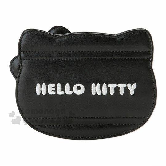 〔小禮堂〕Hello Kitty Black 皮質造型折疊鏡《紅黑》立鏡.蘇格蘭紋生日慶 1