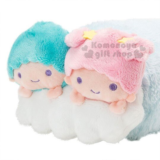 〔小禮堂〕雙子星 造型可收納毛毯披肩《粉藍.趴姿》薄毯.2018溫暖禦冬系列 4
