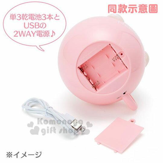 〔小禮堂〕布丁狗 咖啡杯造型LED小夜燈《黃》造型燈飾.床頭燈.USB兩用 2