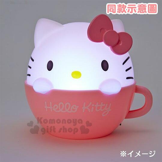〔小禮堂〕布丁狗 咖啡杯造型LED小夜燈《黃》造型燈飾.床頭燈.USB兩用 3