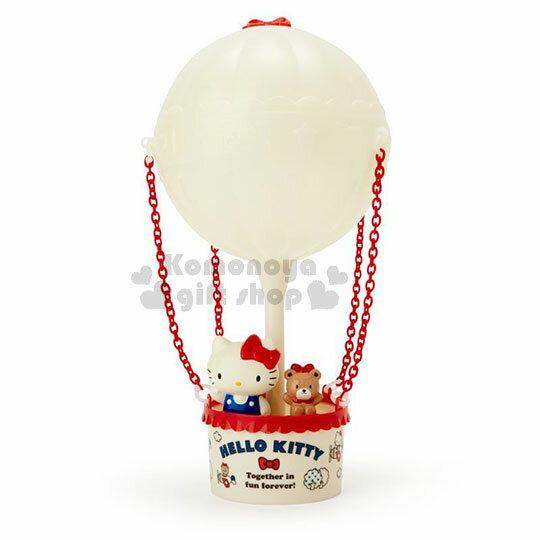 〔小禮堂〕Hello Kitty 熱氣球造型LED小夜燈《紅白》造型燈飾.床頭燈.USB兩用 0