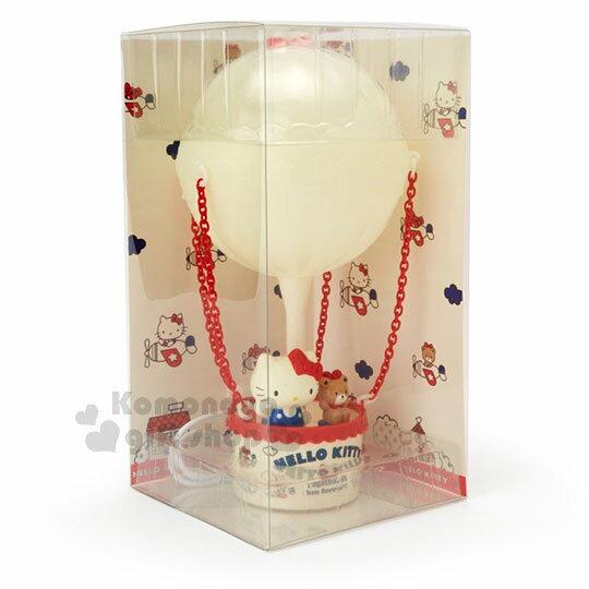 〔小禮堂〕Hello Kitty 熱氣球造型LED小夜燈《紅白》造型燈飾.床頭燈.USB兩用 1