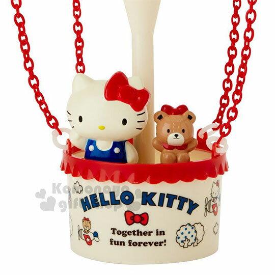 〔小禮堂〕Hello Kitty 熱氣球造型LED小夜燈《紅白》造型燈飾.床頭燈.USB兩用 2