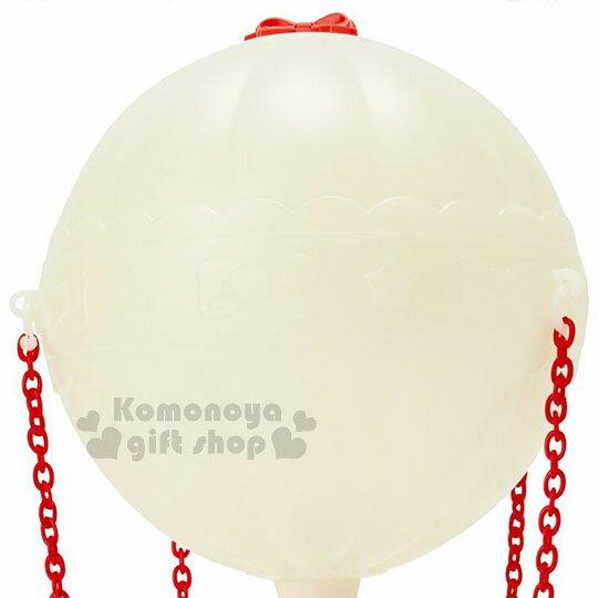 〔小禮堂〕Hello Kitty 熱氣球造型LED小夜燈《紅白》造型燈飾.床頭燈.USB兩用 3