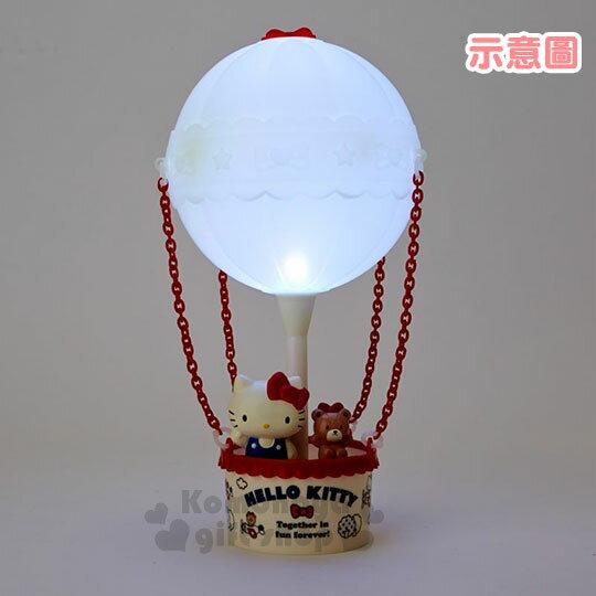 〔小禮堂〕Hello Kitty 熱氣球造型LED小夜燈《紅白》造型燈飾.床頭燈.USB兩用 4
