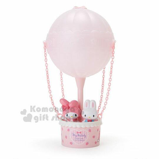 〔小禮堂〕美樂蒂 熱氣球造型LED小夜燈《粉》造型燈飾.床頭燈.USB兩用 0