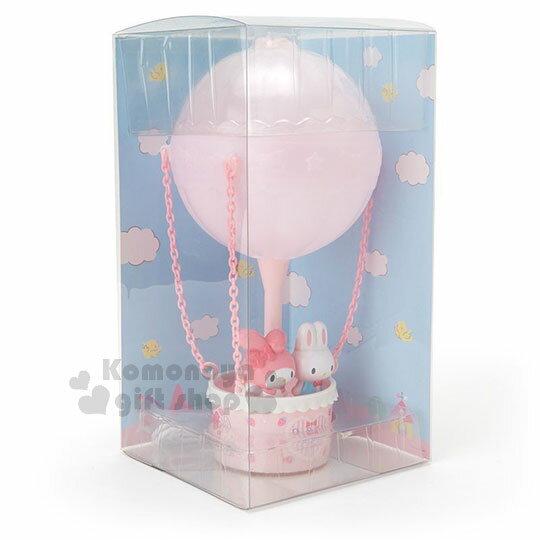 〔小禮堂〕美樂蒂 熱氣球造型LED小夜燈《粉》造型燈飾.床頭燈.USB兩用 1