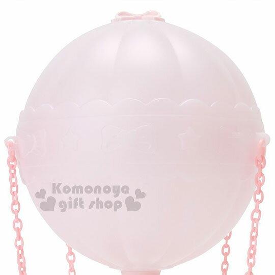 〔小禮堂〕美樂蒂 熱氣球造型LED小夜燈《粉》造型燈飾.床頭燈.USB兩用 3