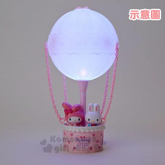 〔小禮堂〕美樂蒂 熱氣球造型LED小夜燈《粉》造型燈飾.床頭燈.USB兩用 4