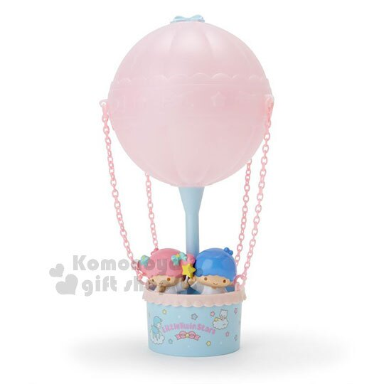 〔小禮堂〕雙子星 熱氣球造型LED小夜燈《粉藍》造型燈飾.床頭燈.USB兩用 0