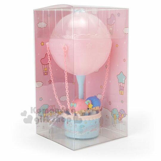 〔小禮堂〕雙子星 熱氣球造型LED小夜燈《粉藍》造型燈飾.床頭燈.USB兩用 1