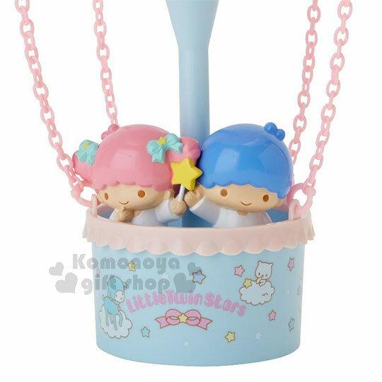 〔小禮堂〕雙子星 熱氣球造型LED小夜燈《粉藍》造型燈飾.床頭燈.USB兩用 2