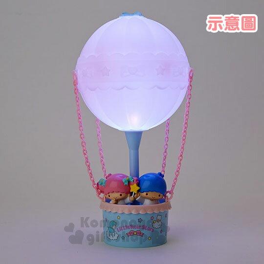 〔小禮堂〕雙子星 熱氣球造型LED小夜燈《粉藍》造型燈飾.床頭燈.USB兩用 4
