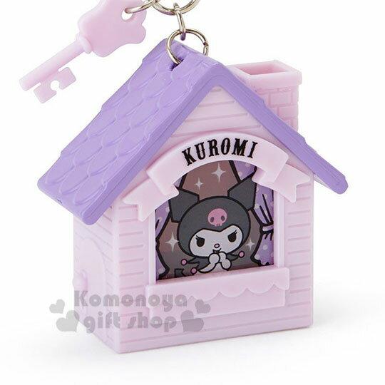 〔小禮堂〕酷洛米 房屋造型LED吊飾燈《紫》掛飾.鑰匙圈 1
